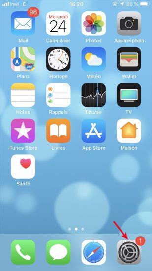 Réglage iPhone